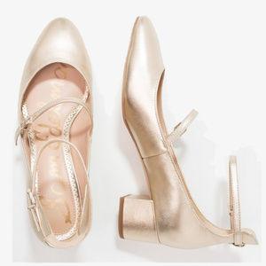 3d9067223 Sam Edelman Shoes - Sam Edelman Lulie ankle strap gold shoes heels